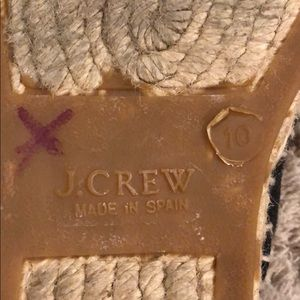 J. Crew Shoes - J. Crew Fabric Espadrille Flats